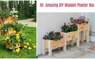 diy4ever-10+ Amazing DIY Wooden Planter Box Ideas