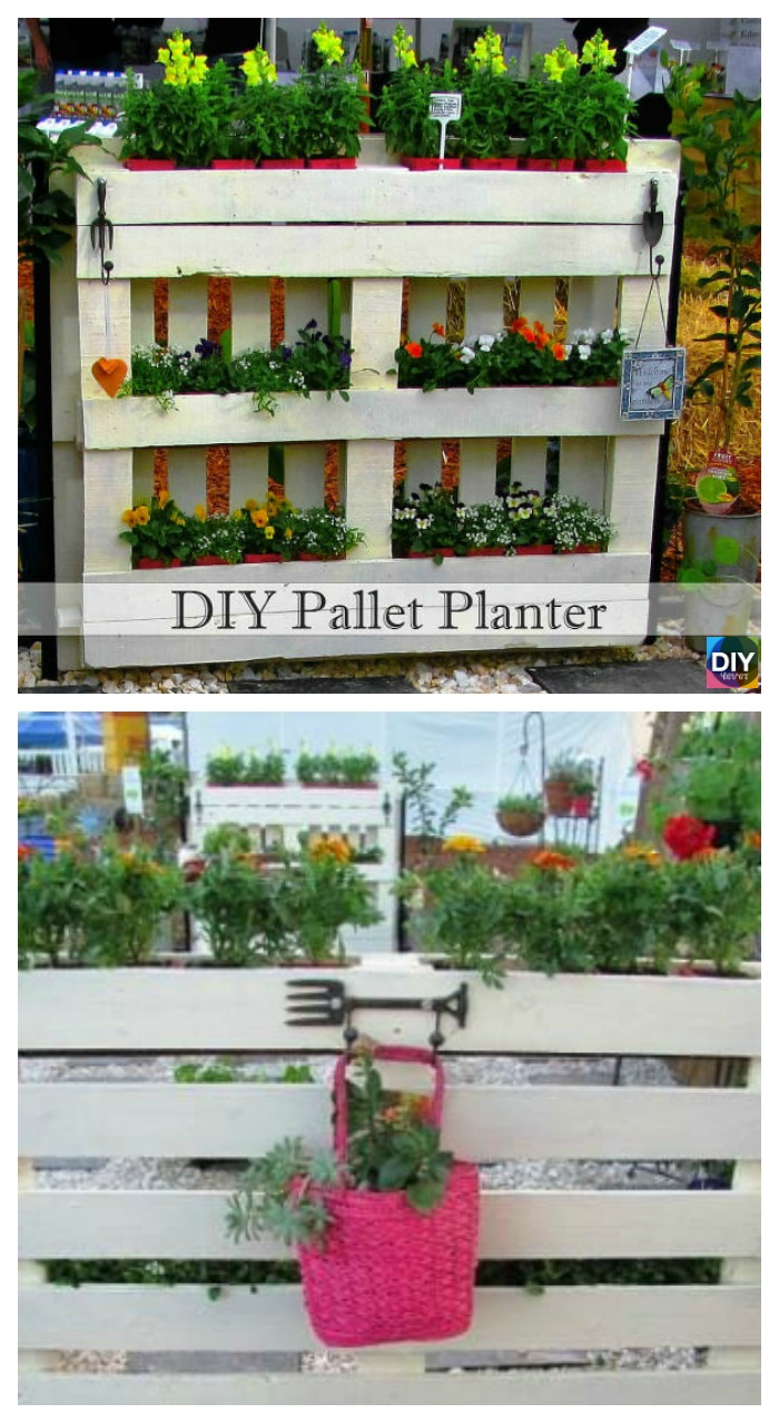 10 Best DIY Pallet Planter Ideas & Tutorials 1