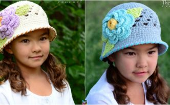 diy4ever-Adorable Crochet Sun Hat Pattern