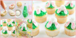 diy4ever- Adorable DIY Bunny Butt Cupcakes Recipe