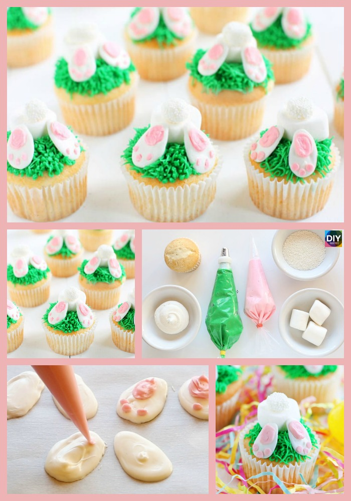 diy4ever- Adorable DIY Bunny Butt Cupcakes Recipe