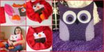 diy4ever- Adorable DIY Owl Pillow - Step by Step Tutorial