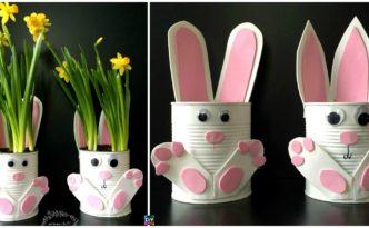diy4ever Adorable DIY Tin Can Bunny Planters F 332x205 - Adorable DIY Tin Can Bunny Planters