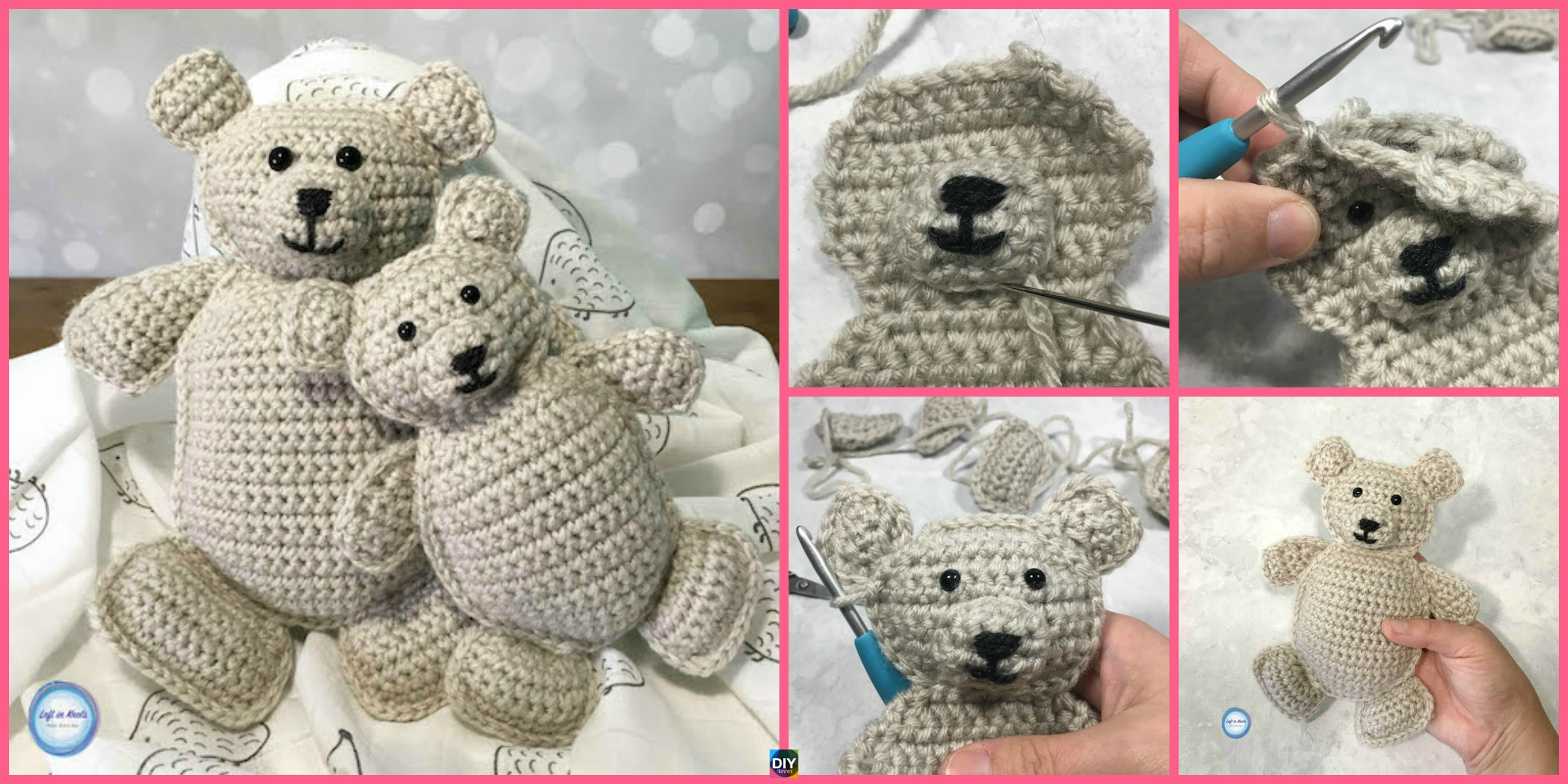 Baby and Me Crochet Bears - Free Pattern - DIY 4 EVER