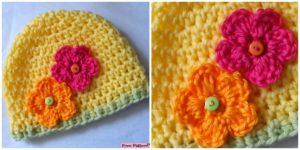 diy4ever- Beautiful Crochet Flower Hats - Free Patterns