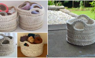 diy4ever- Chunky Crochet Basket - Free Pattern