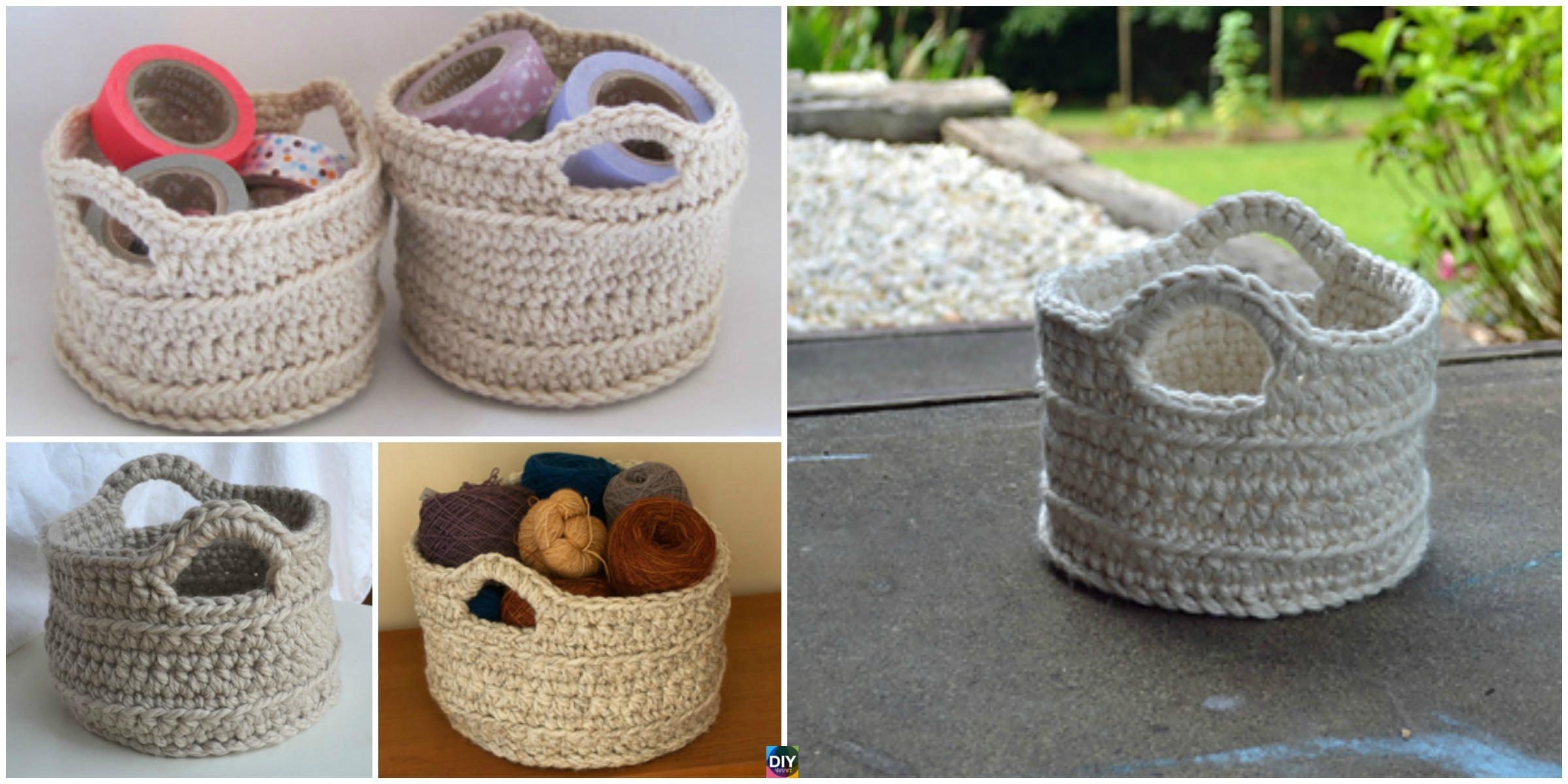 Chunky Crochet Basket - Free Pattern - DIY 4 EVER