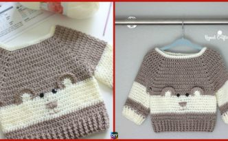 diy4ever-Crochet Baby Bear Sweater - Free Pattern