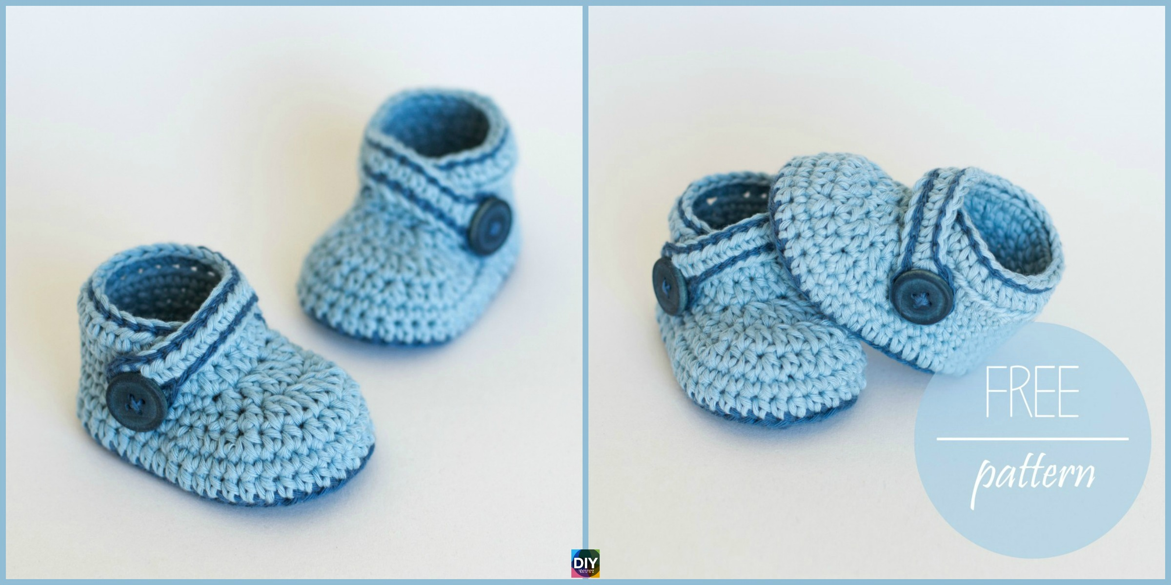 Crochet Blue Whale Baby Booties - Free Pattern & Video - DIY 4 EVER