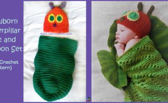 diy4ever- Crochet Caterpillar Hat Cocoon Set - Free Pattern