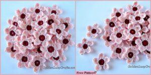 diy4ever- Crochet Cherry Blossom – Free Pattern