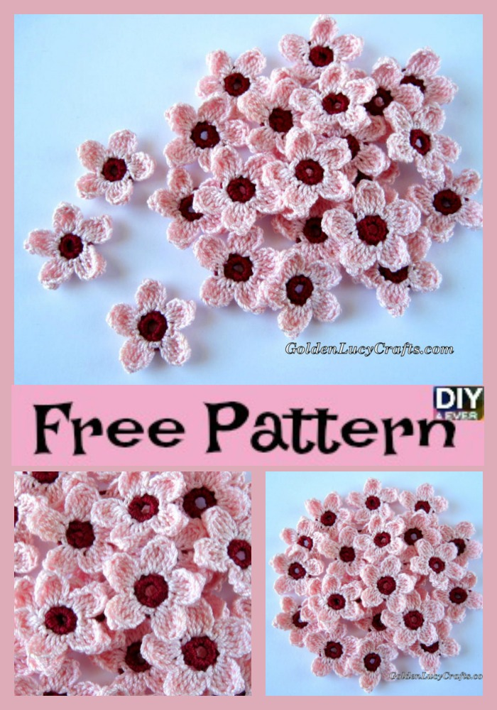 Pretty Crochet Cherry Blossom Free Pattern Diy 4 Ever