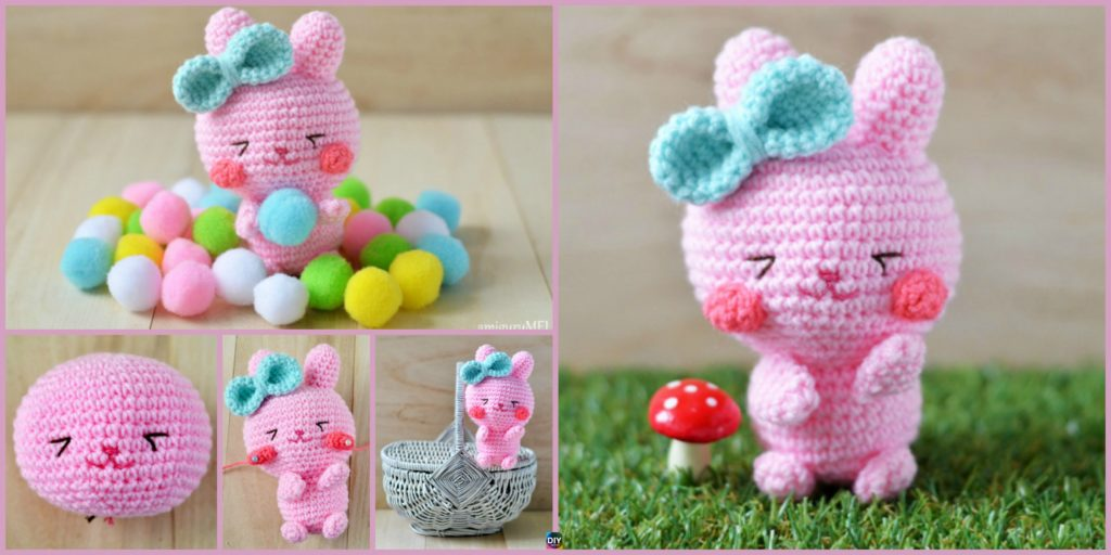 Crochet Easter Bunny Amigurumi Free Pattern Diy 4 Ever