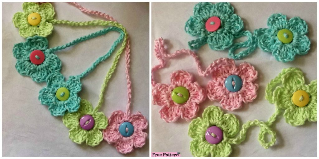 Crochet Flower Bookmark Free Pattern Diy 4 Ever