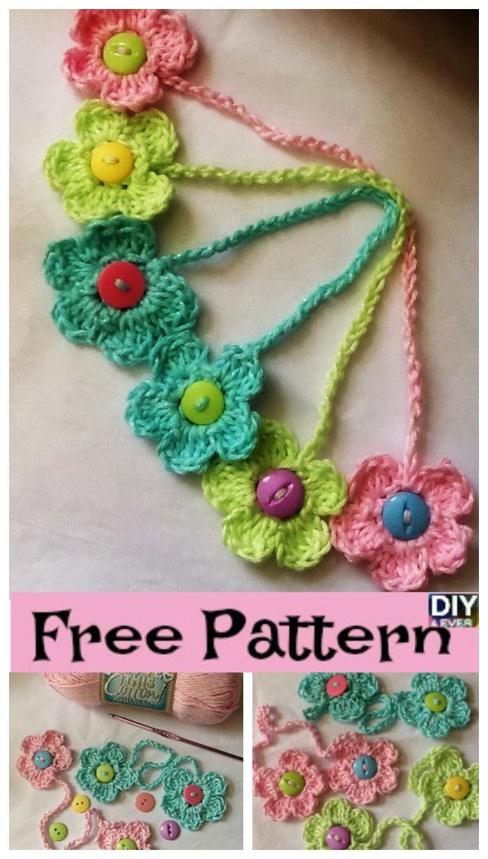 Crochet Flower Bookmark - Free Pattern