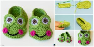diy4ever- Crochet Frog Baby Booties -Free Pattern