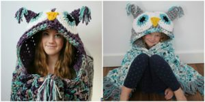 diy4ever- Crochet Hooded Owl Blanket Pattern