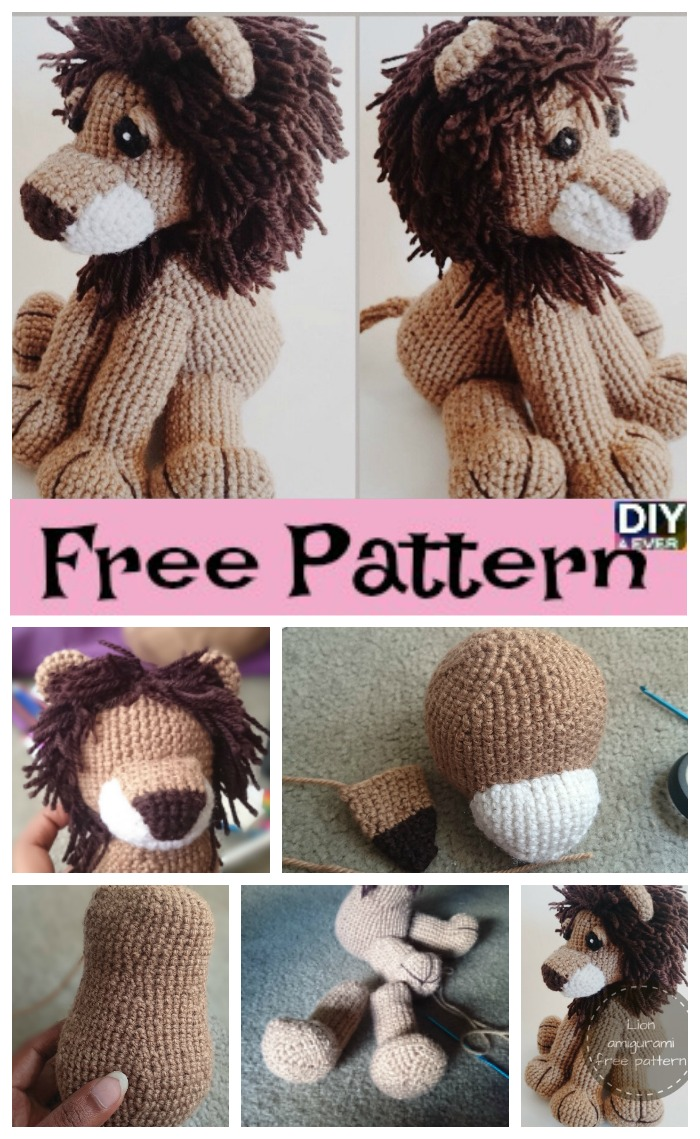 diy4ever- Crochet Lion Amigurumi – Free Pattern