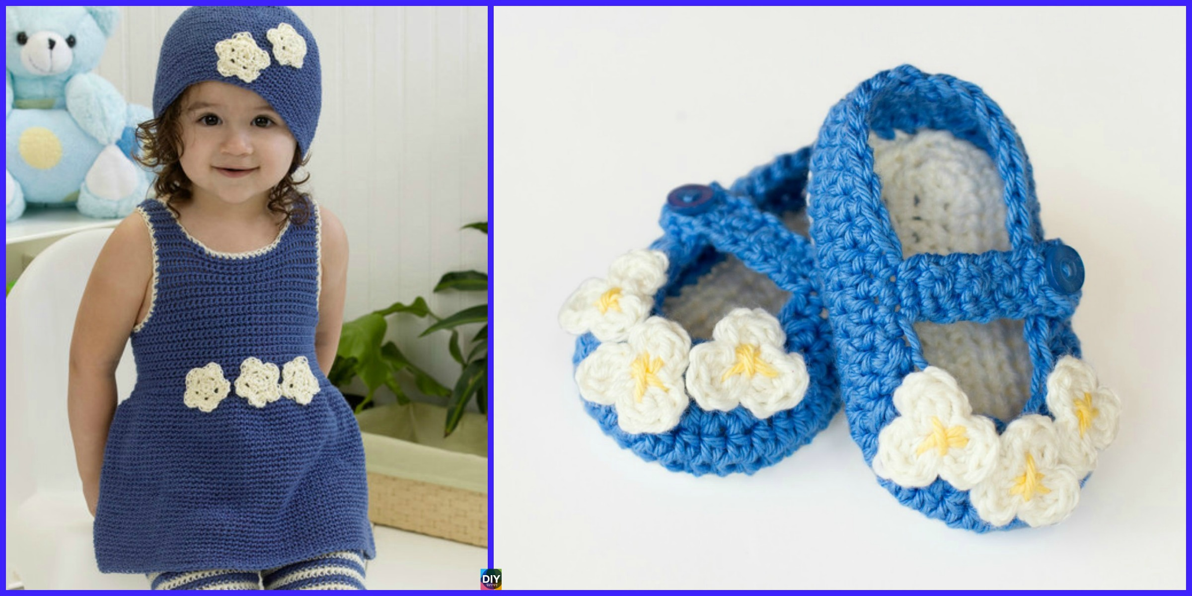 Crochet Mary Jane Baby Booties- Free Pattern - DIY 4 EVER