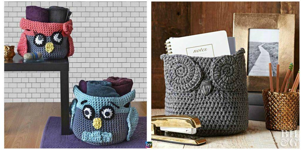 Cute Crochet Owl Basket Free Patterns Diy 4 Ever