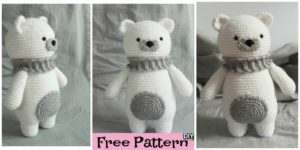 diy4ever- Crochet Polar Bear Amigurumi - Free Pattern