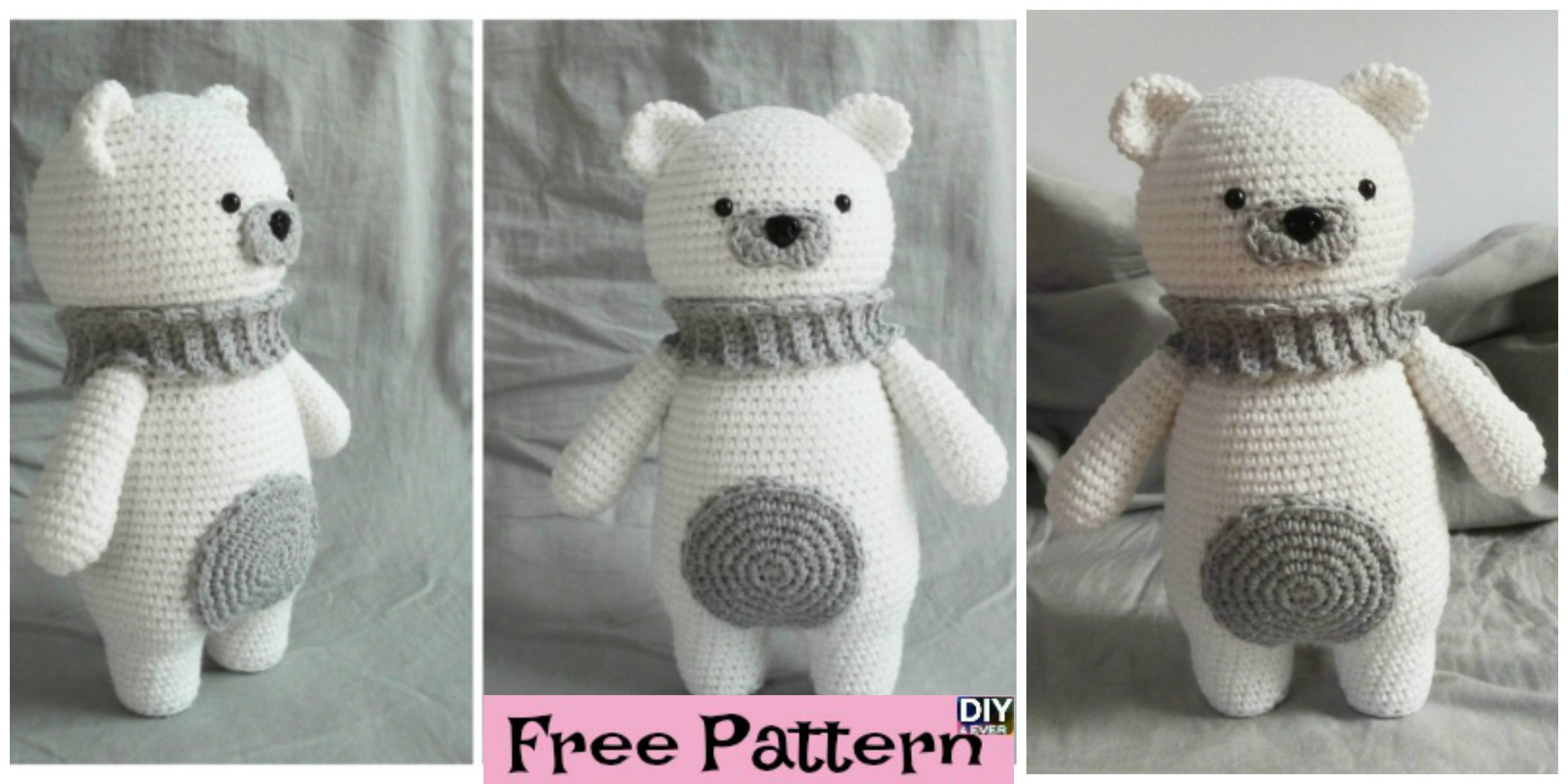 Crochet Polar Bear Amigurumi - Free Pattern - DIY 4 EVER