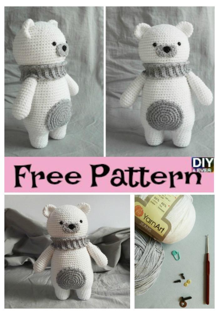 Crochet Polar Bear Amigurumi Free Pattern Diy 4 Ever
