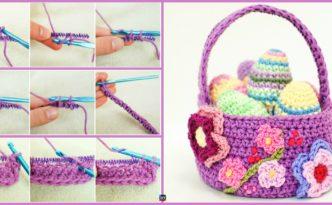 diy4ever- Crochet Spring Basket - Free Pattern