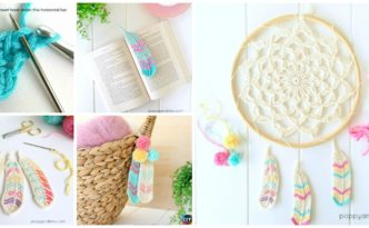 diy4ever- Crochet Tunisian Feathers -Free Pattern