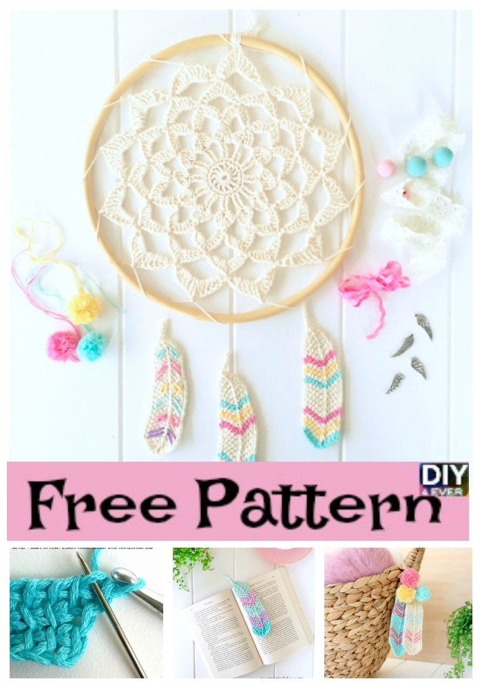 diy4ever- Crochet Tunisian Feathers -Free Pattern