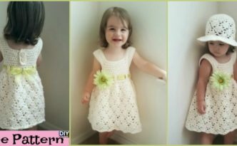 diy4ever- Crochet Vintage Toddler Dress - Free Pattern