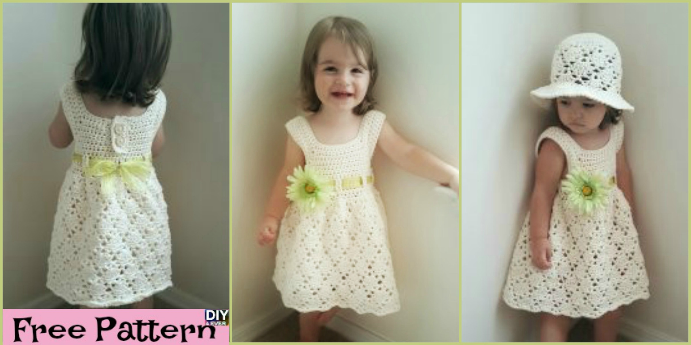 Crochet Vintage Toddler Dress - Free Pattern - DIY 4 EVER