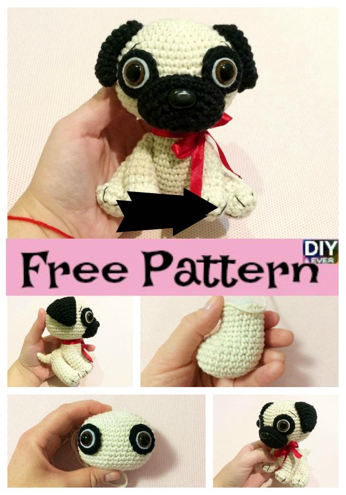 AmiDogs Pug amigurumi crochet pattern : PlanetJune Shop, cute and ... | 1000x700
