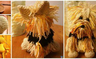 diy4ever- Cute Crochet Yorkie Dog - Free Pattern
