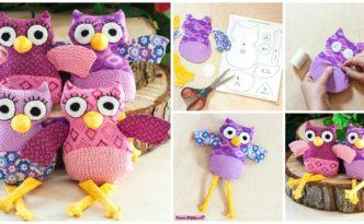 diy4ever- Cute DIY Owl Plushies - Free Sewing Pattern