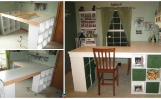 diy4ever- DIY Custom Craft Desk tutorial