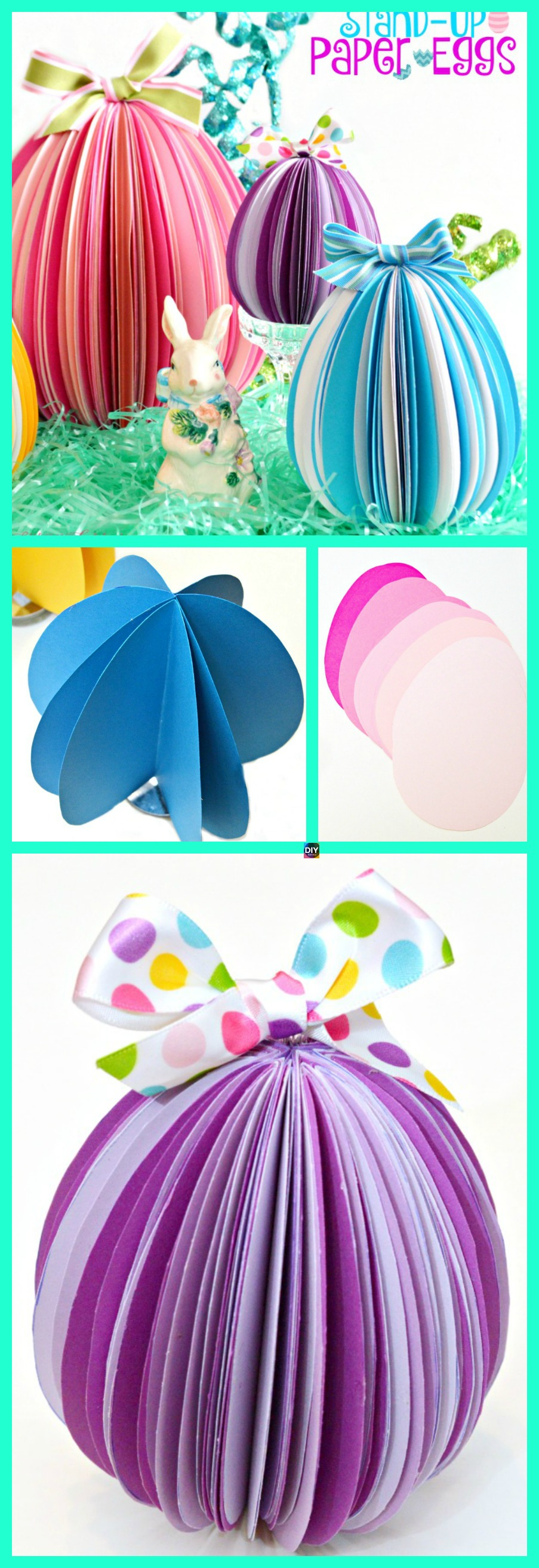 diy4ever- DIY Easter Paper Eggs Step by Step Tutorial