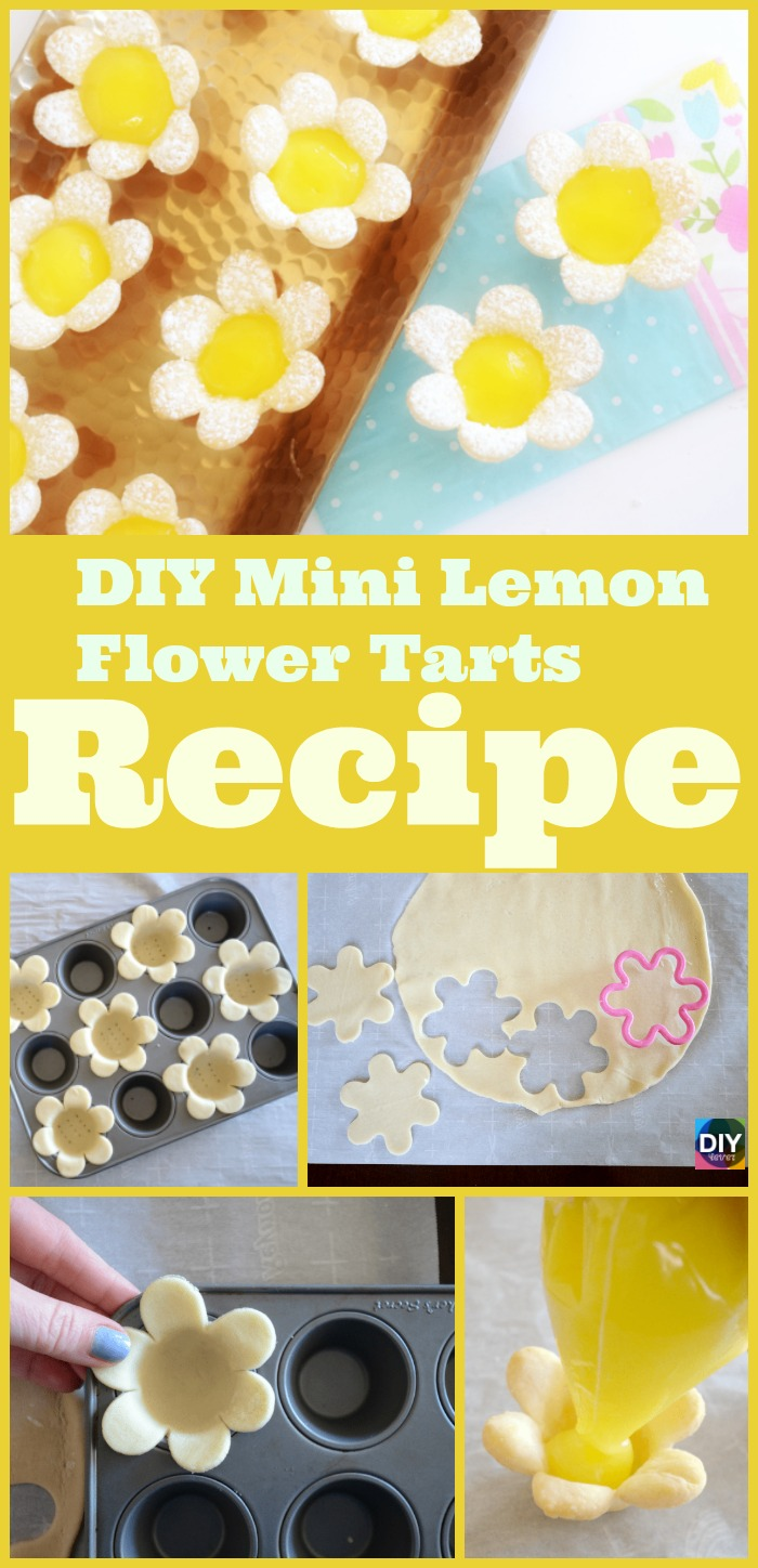 diy4ever-DIY Mini Lemon Flower Tarts Recipe