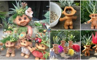 diy4ever- DIY Troll Doll Planters Tutorial & Video