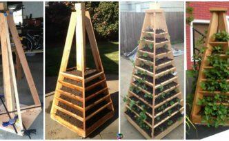 diy4ever- DIY Vertical Garden Pyramid Tower