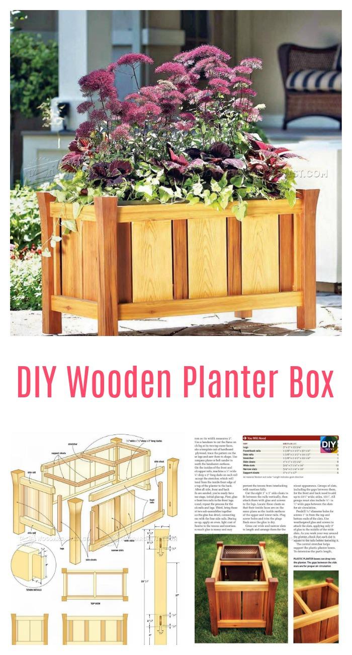 diy4ever-DIY Wooden Planter Box Plan