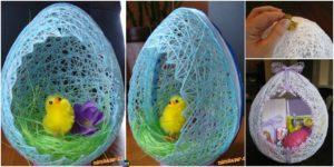 diy4ever-Egg Shaped DIY Easter Basket Tutorial