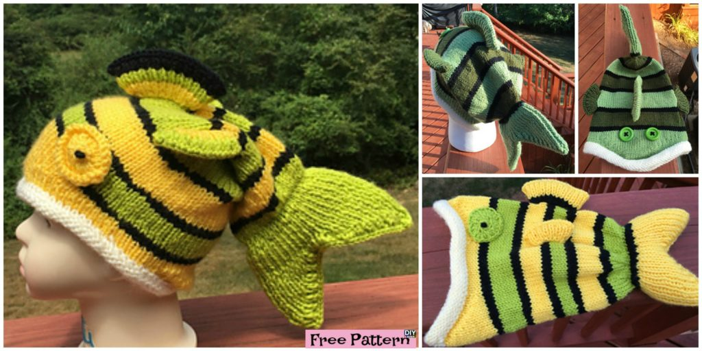 Cute Knitted Fish Hat Free Pattern Diy 4 Ever