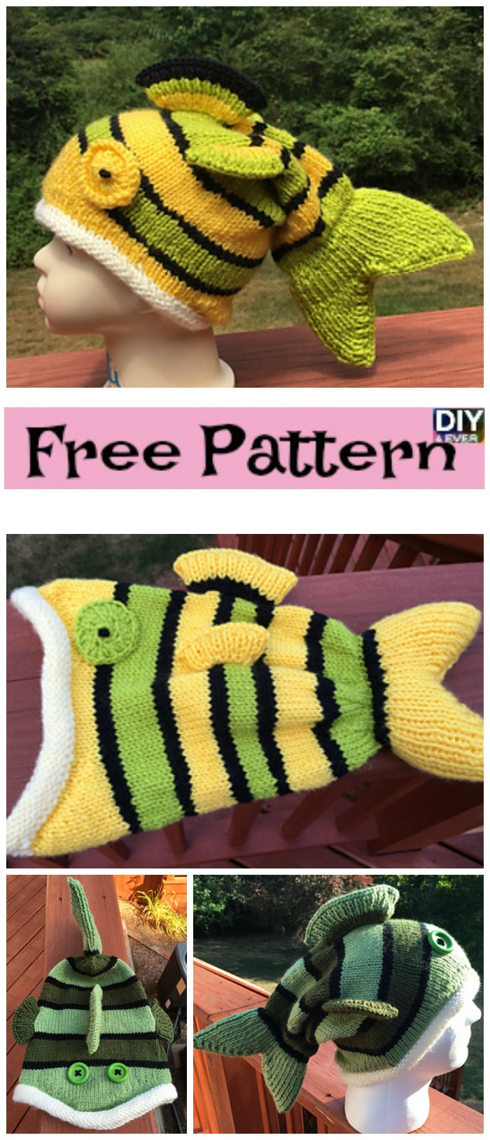 Cute Knitted Fish Hat - Free Pattern - DIY 4 EVER