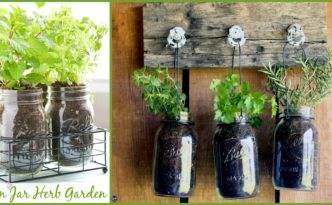 diy4ever-Mason Jar DIY Herb Garden Tutorial