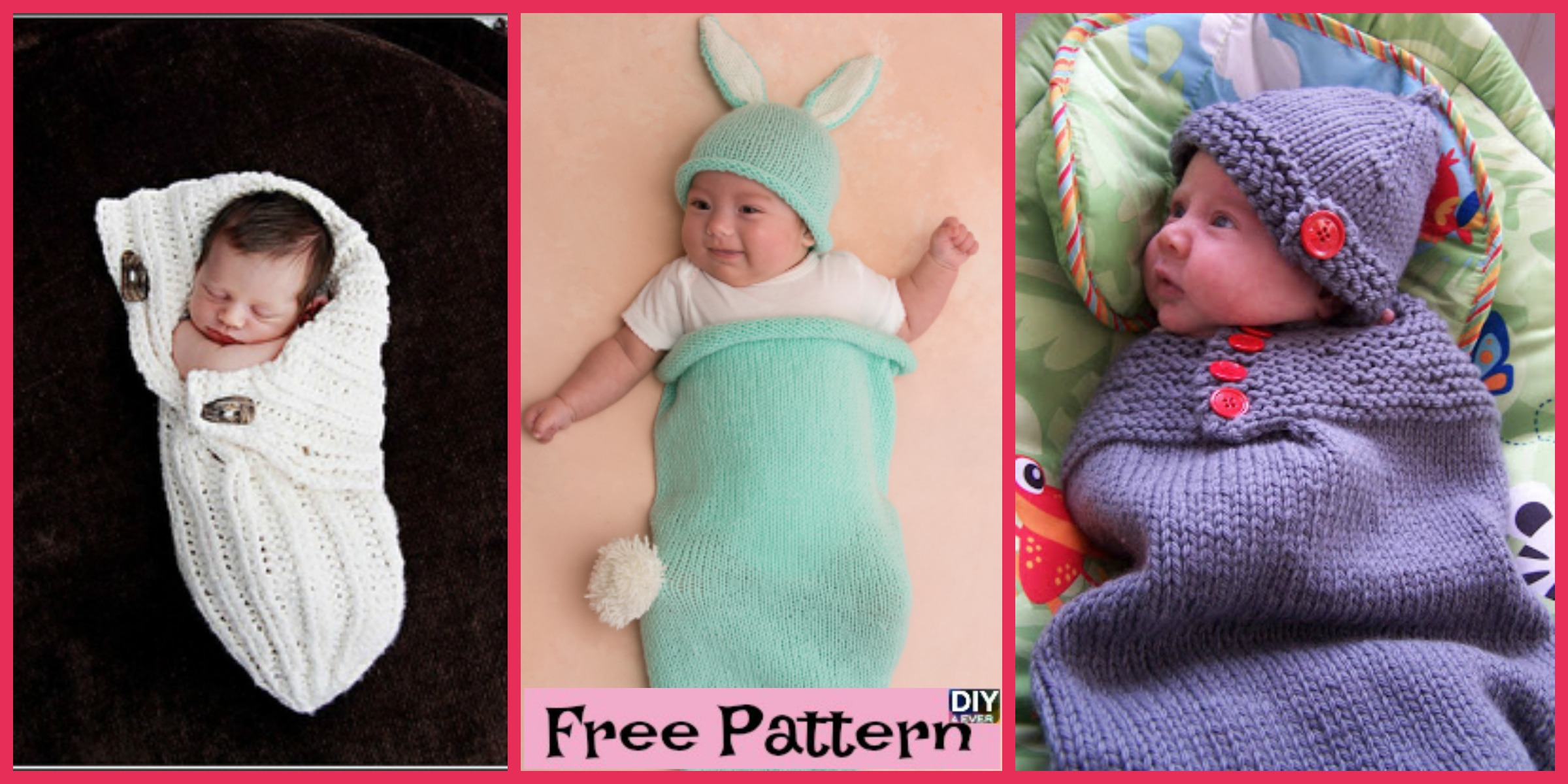 Adorable Knitted Baby Cocoons - Free Patterns - DIY 4 EVER