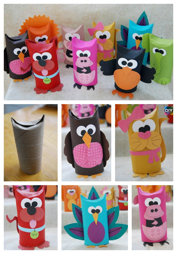 DIY4ever- 10 Cutest DIY Toilet Paper Roll Crafts for Kids