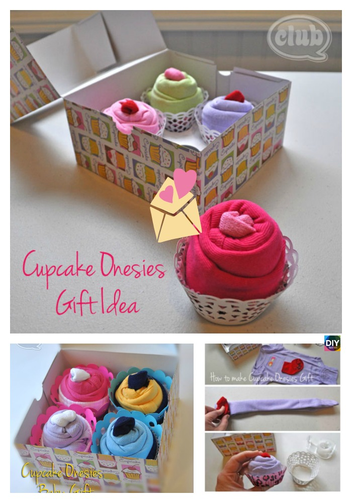 diy4ever -DIY Baby Clothes Cupcake Gift