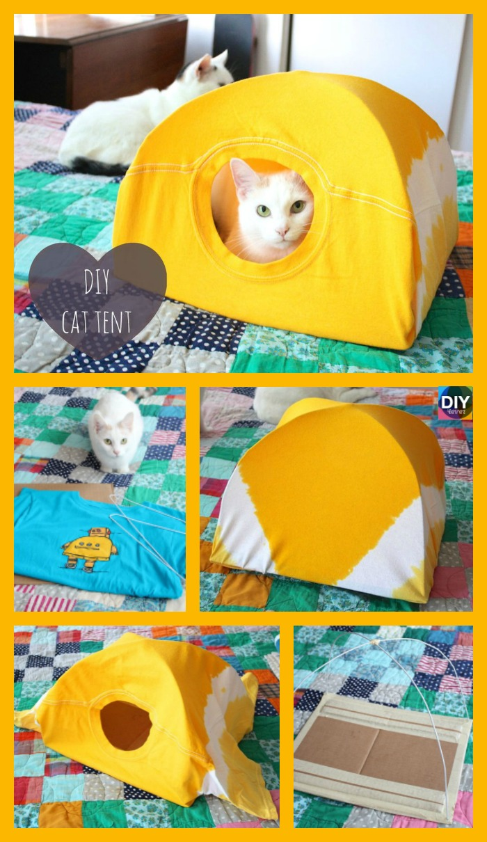 diy4ever- Easy & Cozy DIY Cat Tent - Step by Step Tutorial