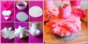 diy4ever- Adorable DIY Ballerina Dress Cupcakes
